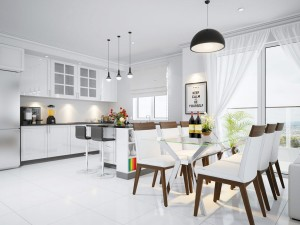 Traditional-White-Open-Plan-Kitchen-Interior-Design-3D-Rendering-Service